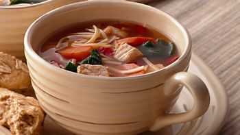 Asian Pork and Noodle Soup