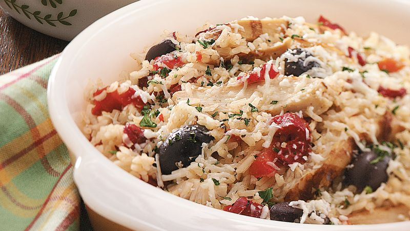 Zesty Chicken and Rice Casserole with Roasted Red Peppers