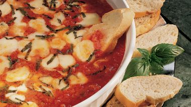 Mozzarella and Basil with Marinara Sauce