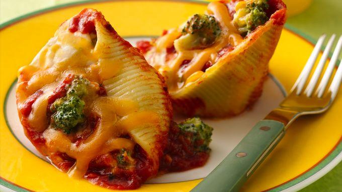 Broccoli and Cheese Stuffed Shells