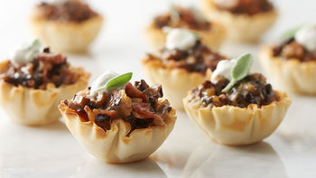 Pancetta and Mushroom Phyllo Cups