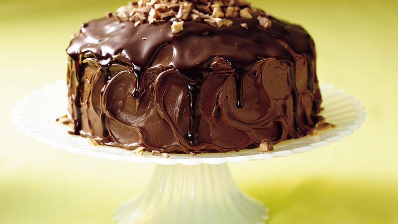 Chocolate Ganache Cake recipe from Betty Crocker