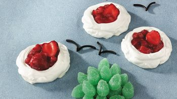 Gluten-Free Strawberry Rhubarb Meringue Clouds