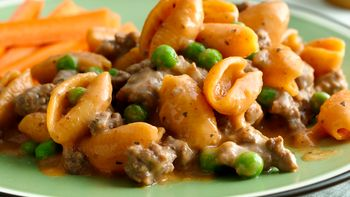 Cheesy Italian Shells and Peas