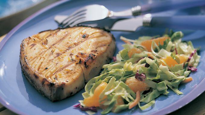 Balsamic Grilled Halibut Steaks