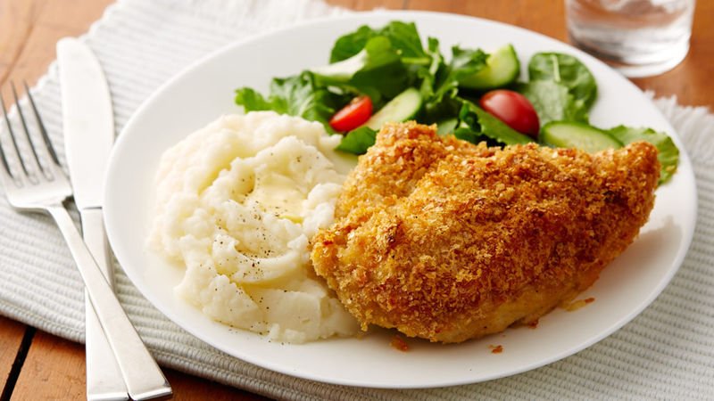 Crisp Oven-Fried Chicken