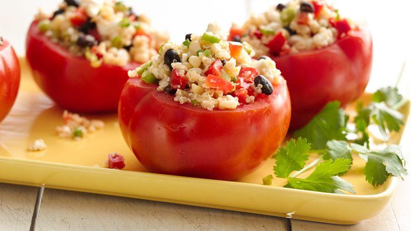 Gluten-Free Quinoa Salad-Stuffed Tomatoes