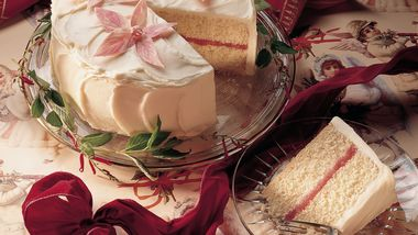 Raspberry-White Chocolate Cream Cake