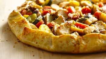 Mediterranean Chicken Vegetable Galette