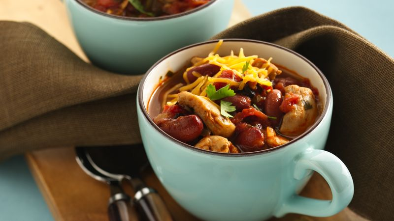Fire Roasted Tomato Chicken Chili recipe from Betty Crocker