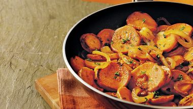 Gluten-Free Caramelized Onion and Sweet Potato Skillet
