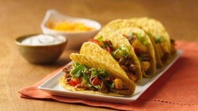 Slow-Cooker Pineapple-Pork Tacos