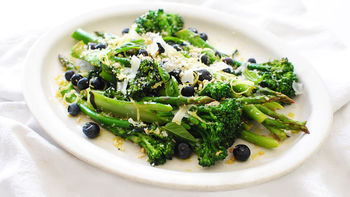 Lemon Asparagus and Broccolini
