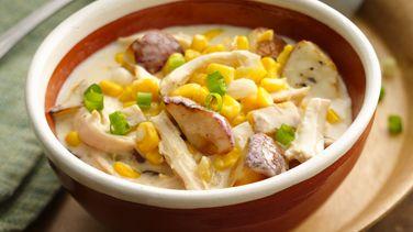 Sopa Cremosa de Pollo y Maíz del Sudoeste
