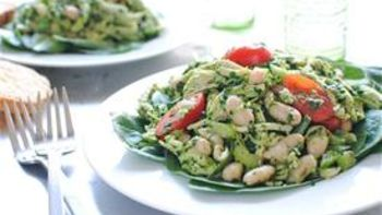 Poached Chicken Pesto Salad