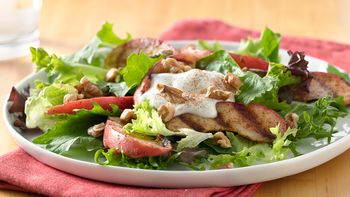 Grilled Apple Salad with Vanilla Yogurt