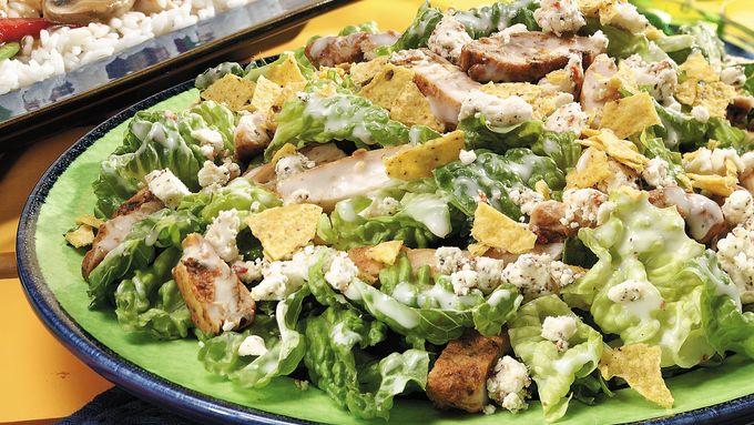 Seasoned Chicken Caesar Salad