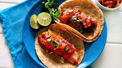 Tilapia Tacos with Grapefruit Salsa