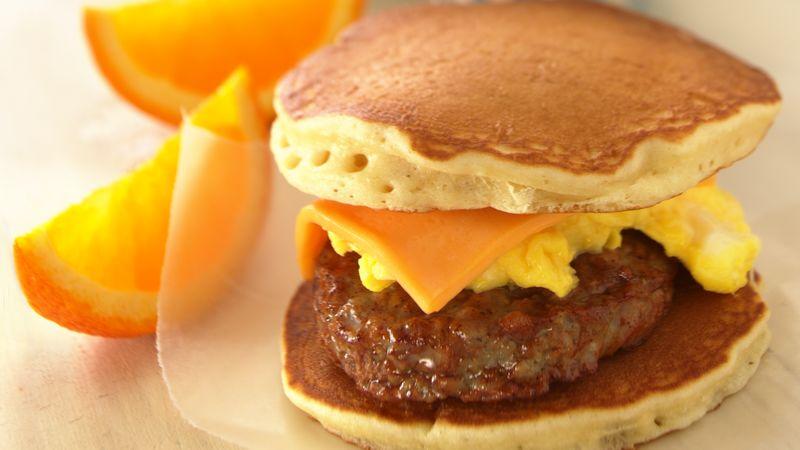 Sausage-Cheese Pancake Sandwiches
