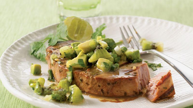 Tuna with Avocado-Kiwi Salsa