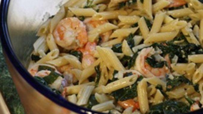 Creamy Gorgonola and Shrimp Pasta