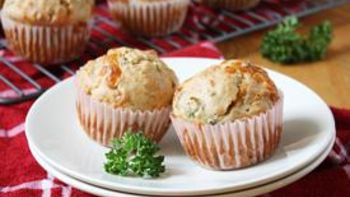 Smoked Gouda, Sun-Dried Tomato and Parsley Muffins
