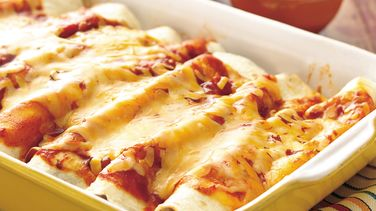 Spinach and Turkey Enchiladas