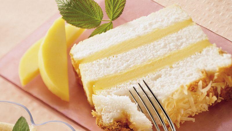 Angel Food-Mango Loaf Cake