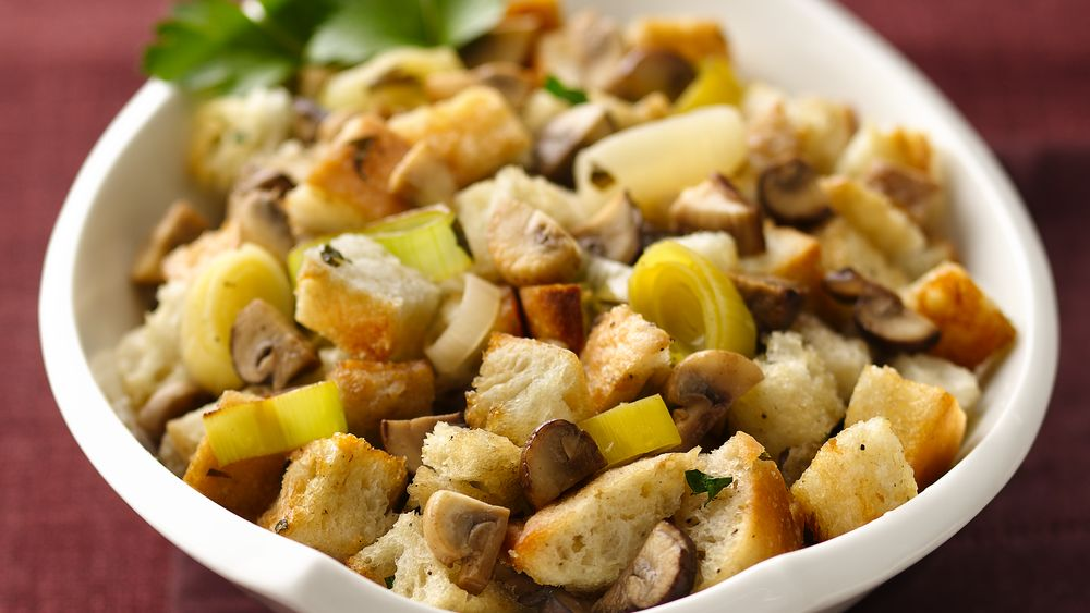 Mixed Mushroom-Leek Stuffing recipe from Pillsbury.com