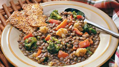 Lentil and Mixed-Vegetable Casserole