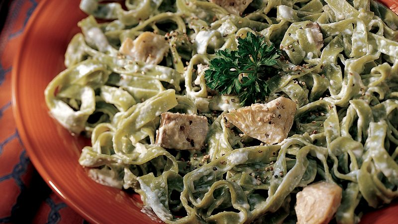 Beef and Artichoke Fettuccine