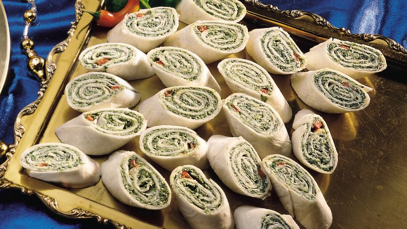 Spinach and Jalapeño Roll-Ups