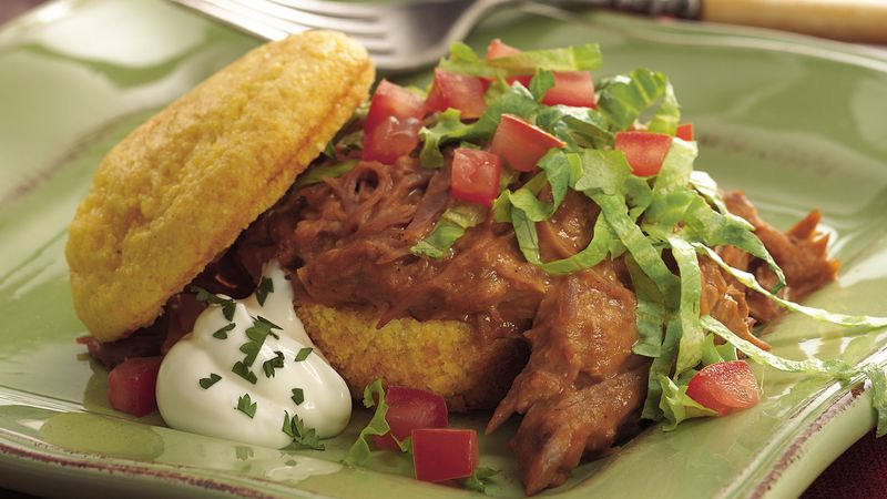 Slow-Cooker Taco Shortcakes