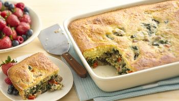 Sausage-Spinach Breakfast Bake