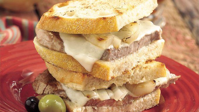 Grilled Rib Eye Sandwich Melts
