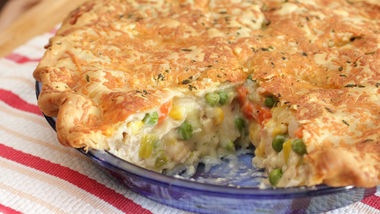 Chicken Pot Pie with Herb and Cheddar Crust