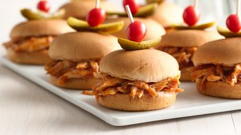 Barbecue Chicken and Squash Sliders