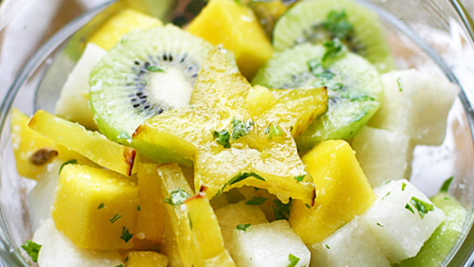 Jicama Lime Tropical Fruit Salad