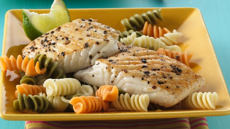 Roasted Orange-Fennel Halibut with Dijon Sauce