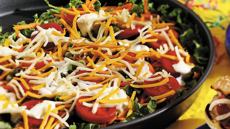 Pizza Party Layered Salad