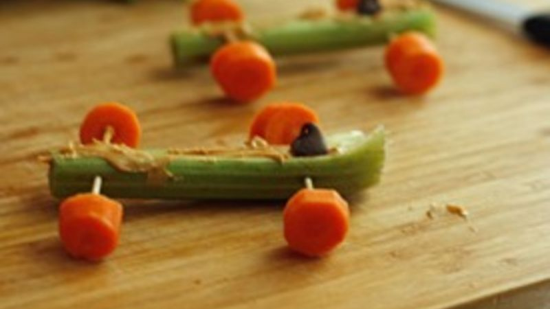 Celery Race Cars