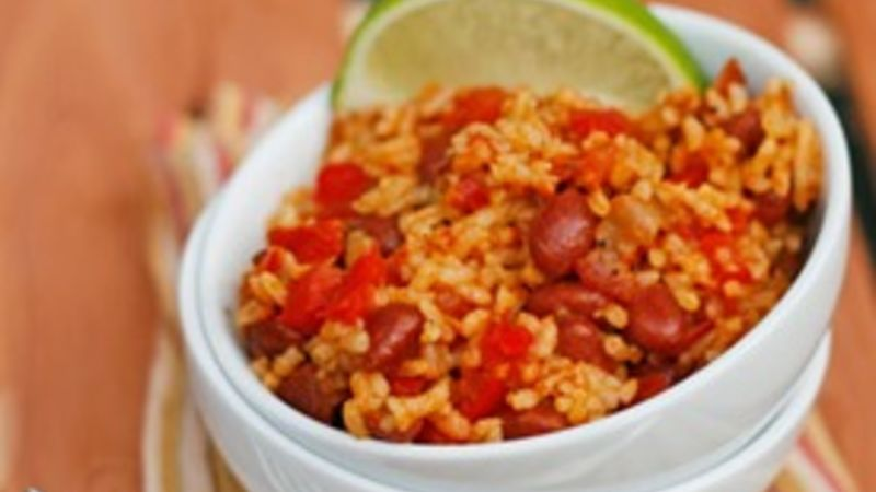 Quick and Easy Rice and Beans