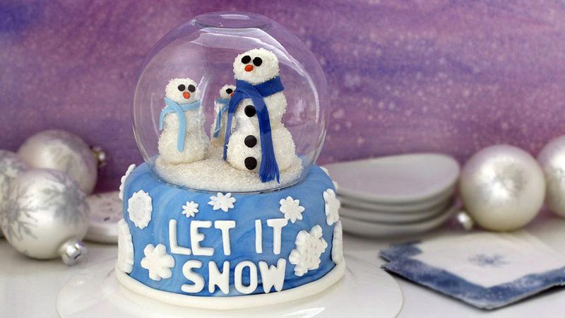 Giant Snow Globe Cake