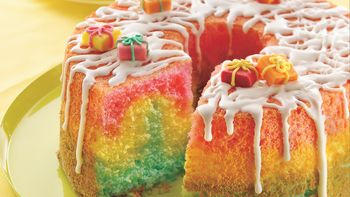 Rainbow Angel Birthday Cake