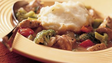 Savory Pork Stew with Potato Dumplings