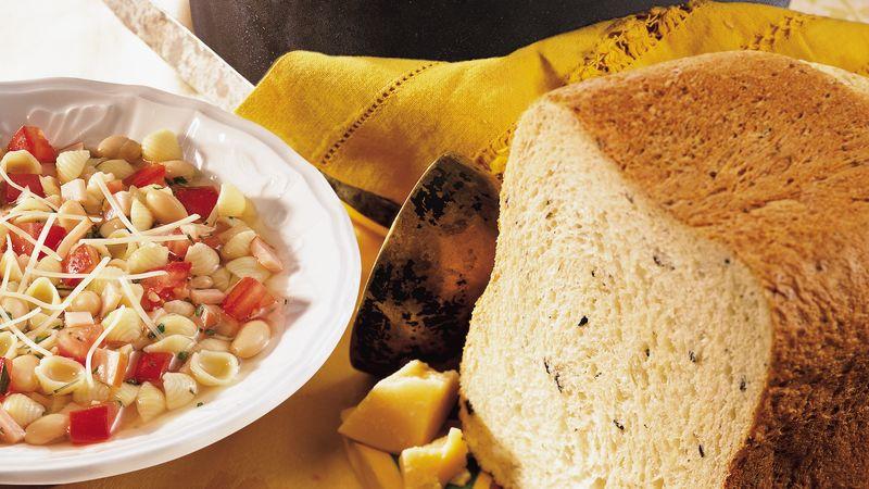 Bread Machine Olive-Parmesan Bread