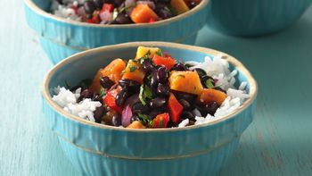 Caribbean Black Beans with Rice