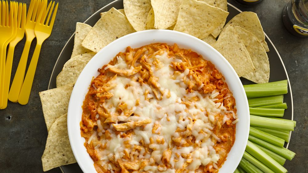 Buffalo Chicken Pizza Dip