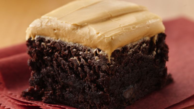 Dulce-Frosted Chipotle Brownies
