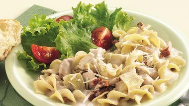 Slow-Cooker Chicken and Noodles Alfredo